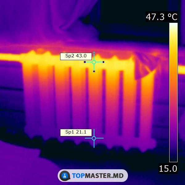 Тепловизионное обследование батарей в квартире в Кишинёве. изображение 1