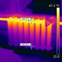 Тепловизионное обследование батарей в квартире в Кишинёве.