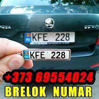 Breloc personalizat cu număr auto