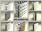 Cofraje din polistiren cu distanţieri reglabile pentru constructii.